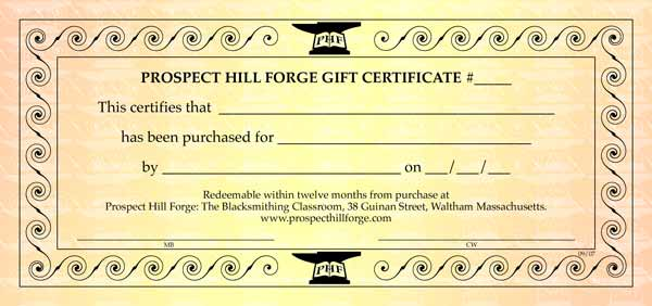 Image of a beautifully designed Gift Certificate